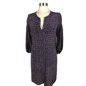 Maje Every Multi-Color Paisley Silk Shirtdress M